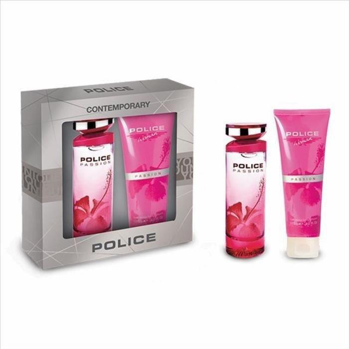 POLICE Coffret Passion femme Compact - Eau de toilette 100 ml + Lait soyeux pour le corps 125 ml