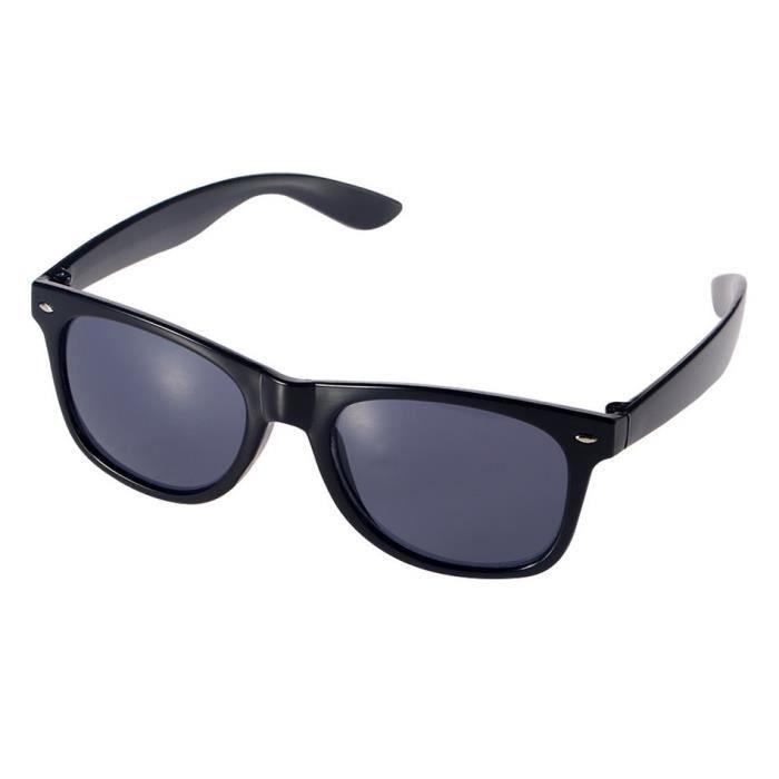 YKS fashion Grande boîte de lunettes de soleil noir brillant