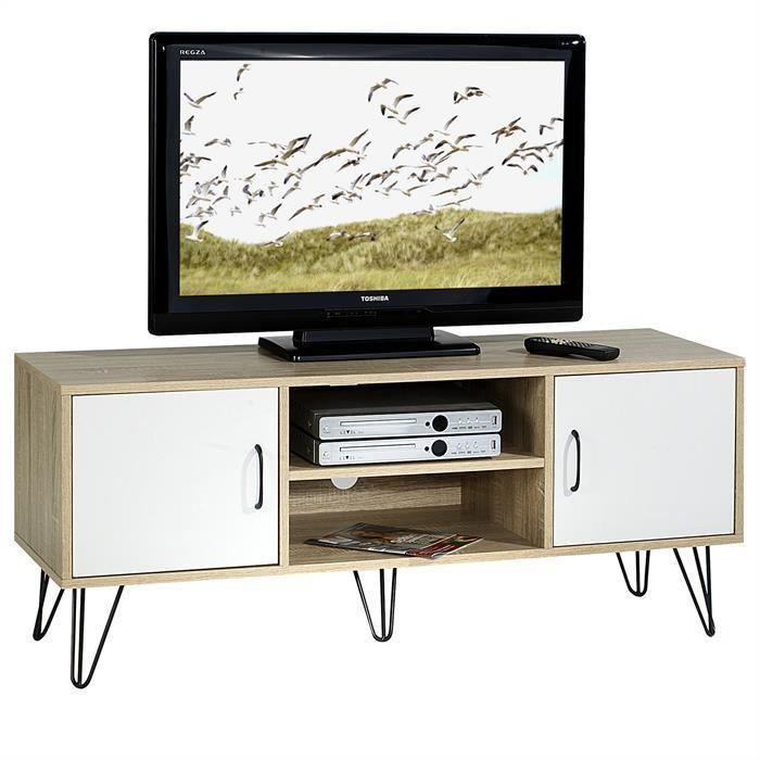 Banc blanc et bois achat vente banc blanc et bois pas for Banc tv blanc et bois