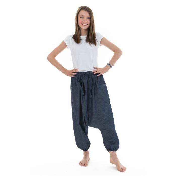 98bc122d8d6 Fantazia - Vêtement ethnique Enfant - Sarouel bermuda ado jean leger urban  babacool mixte