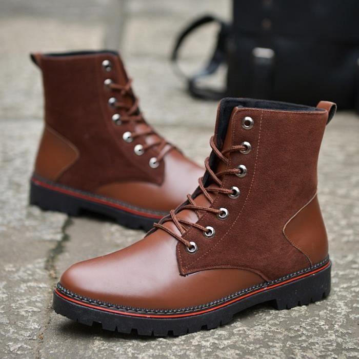 Martin bottes chaussure homme haut-dessus rétro