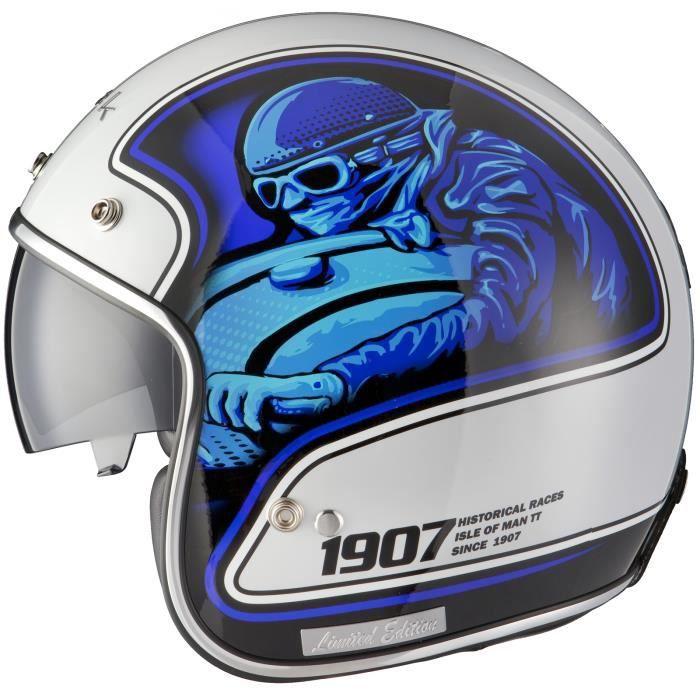 Noir Moto-Racer Limited Edition Casque de moto