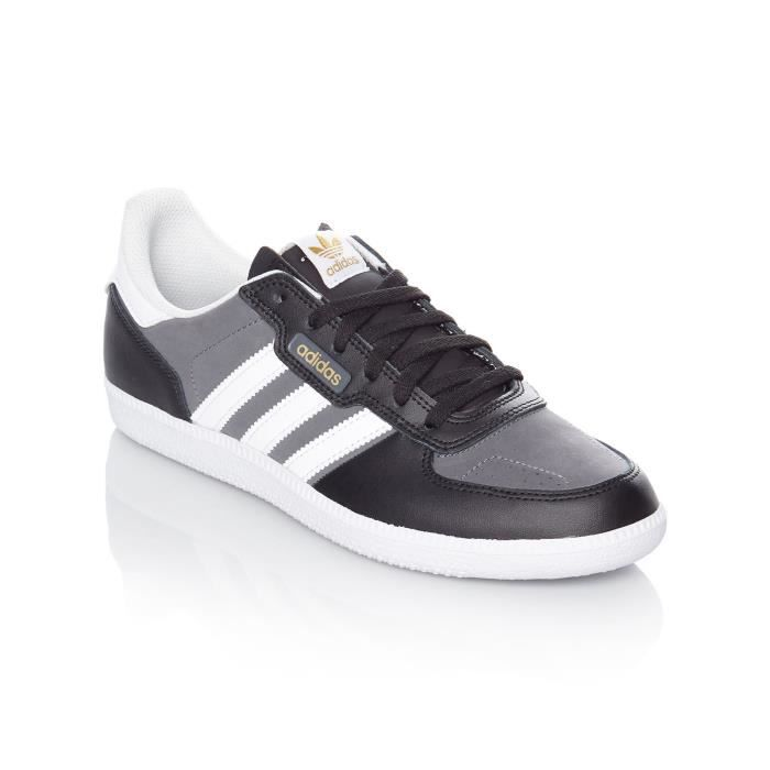 size 40 06140 1a714 SKATESHOES Chaussure Adidas Leonero Core Noir-Footwear Blanc-