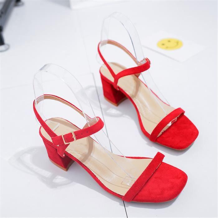 cd5e2b98f92 Sandales femme rouge - Achat   Vente pas cher