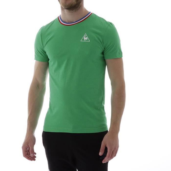 f8daa33aad Ess Sp Basic Homme Tee-Shirt Vert Le Coq Sportif Vert Vert - Achat ...
