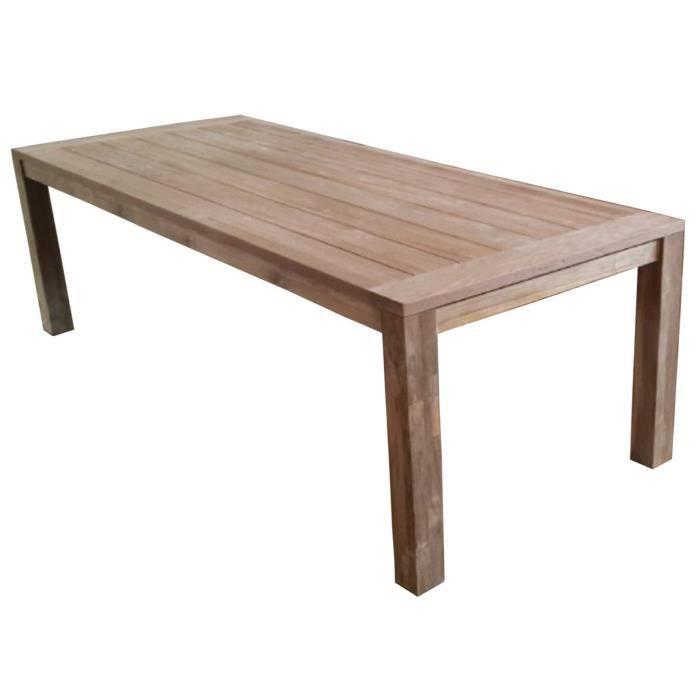 Table en teck recyclé - Dim : 250 x 100 cm - Achat / Vente table de ...