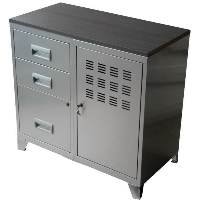 meuble metal pour bureau