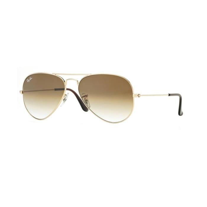 3f6ffea2e0474 Lunettes de soleil Ray-Ban Homme AVIATOR LARGE METAL RB3025 001 51 Or 58 x  50