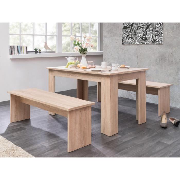 table et banc salle a manger achat vente table et banc salle a manger pas cher cdiscount. Black Bedroom Furniture Sets. Home Design Ideas
