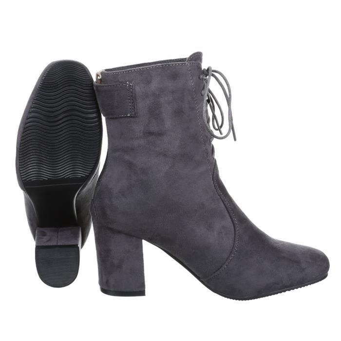 femme bottine chaussure Boots par laçage