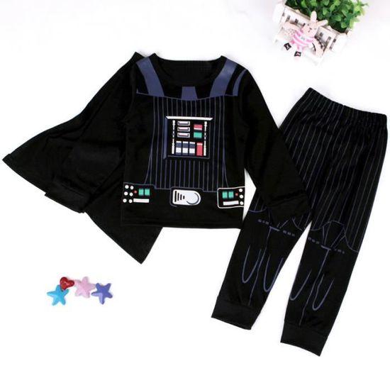 58a909af3ca70 1-7 Ans Garçon Pyjama Super-héros 2PCS Ensemble de Vêtement : T-shirt avec  Cape + Pantalon Noir Noir - Achat / Vente ensemble de vêtements - Cdiscount