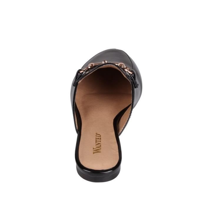 Wanted Bitman Flat Slip On Chain Detailed Loafer YQ1Q8 Taille-38 1-2