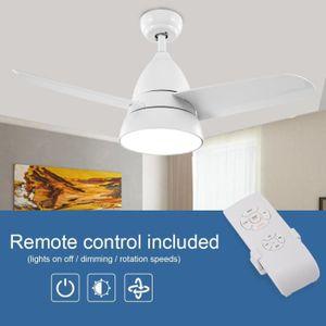 VENTILATEUR DE PLAFOND NAKESHOP 60w Ventilateur de plafond à 3 lames, 36