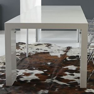 CONSOLE EXTENSIBLE Grande table console extensible design taupe VIRGI