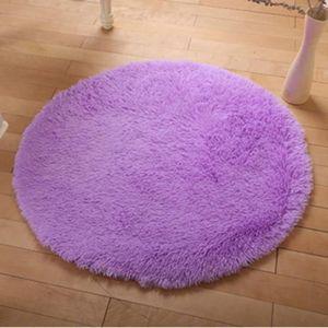 Tapis rond violet - Achat / Vente Tapis rond violet pas cher - Cdiscount