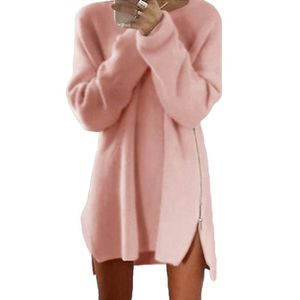 bc0c4be851a0 PULL Minetom Femme Automne Hiver Pull Robe Casual Manch
