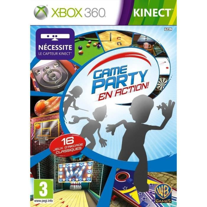game party en action kinect jeu xbox 360 achat vente. Black Bedroom Furniture Sets. Home Design Ideas