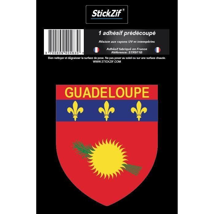 STICKZIF 1 Adhésif Blason Guadeloupe STR971B