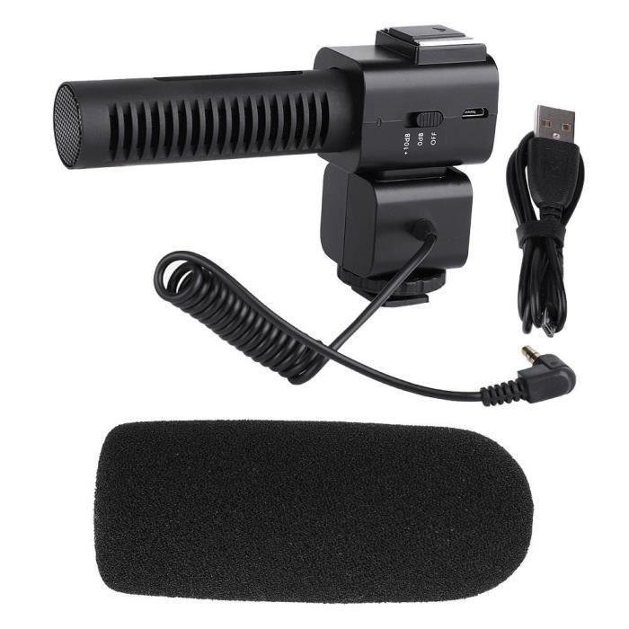 Cm-520 Microphone De Résolution Du Son Hd Capteur Cardioïde Haute Performance Pour Caméra Dv -bon