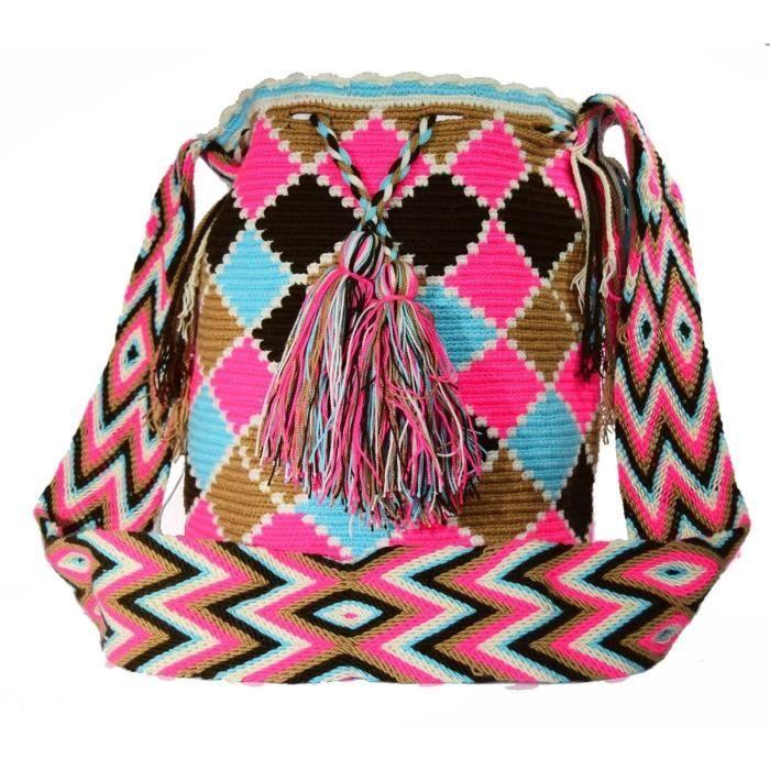 Wayuu Sac - Grand Mochila - Design - 077 VCKZZ