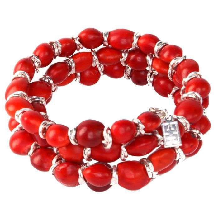 Craze Red Wrap Bracelet Pour Made With Natural Huayruro Seed 8mm Perles Par Evelyn Brooks