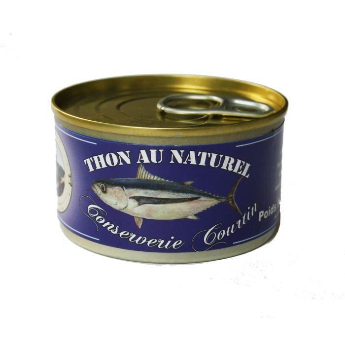 PRODUIT DE THON Thon Albacore au naturel Courtin 100 gr