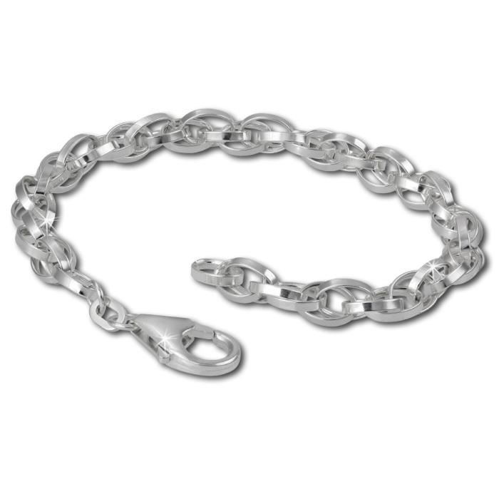 SilberDream Bracelet pour Charms - Double Ancre - 19cm Argent sterling 925 FC0502