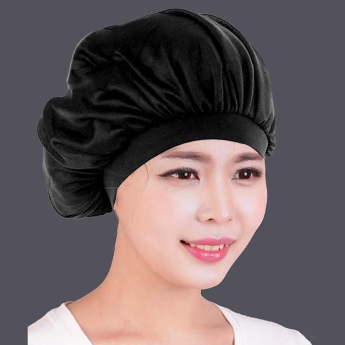 style le plus récent haute qualité bonne vente de chaussures Nouveau Noir Sommeil Chapeau Nuit Sommeil Cap Des Cheveux Bonnet De Nuit En  Satin Pour Les Femmes