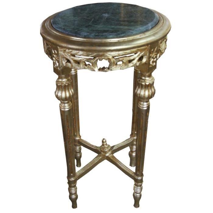 Table D Appoint Casa.Casa Padrino Table D Appoint Baroque Or Rond Avec Dessus En Marbre Vert 37 Cm X H 70 Cm Style Antique