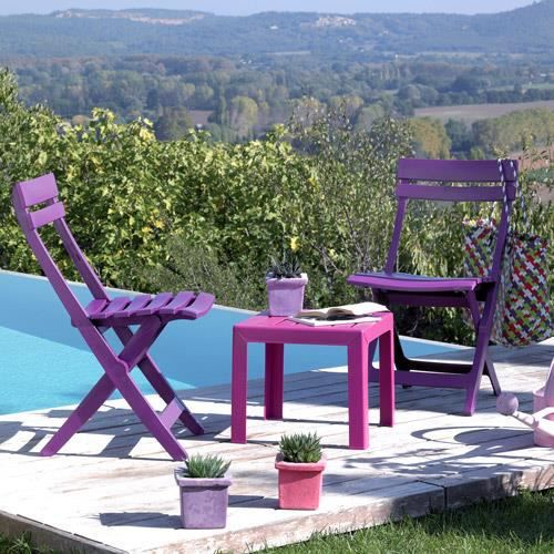 Chaise MIAMI Grosfillex Pliante Purple