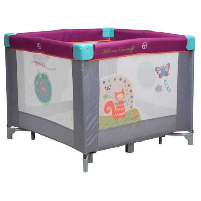 katherine roumanoff parc carr gris et violet achat vente parc b b 3606503978050 cdiscount. Black Bedroom Furniture Sets. Home Design Ideas
