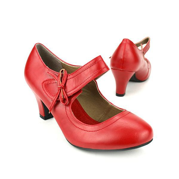 chaussure femme rouge