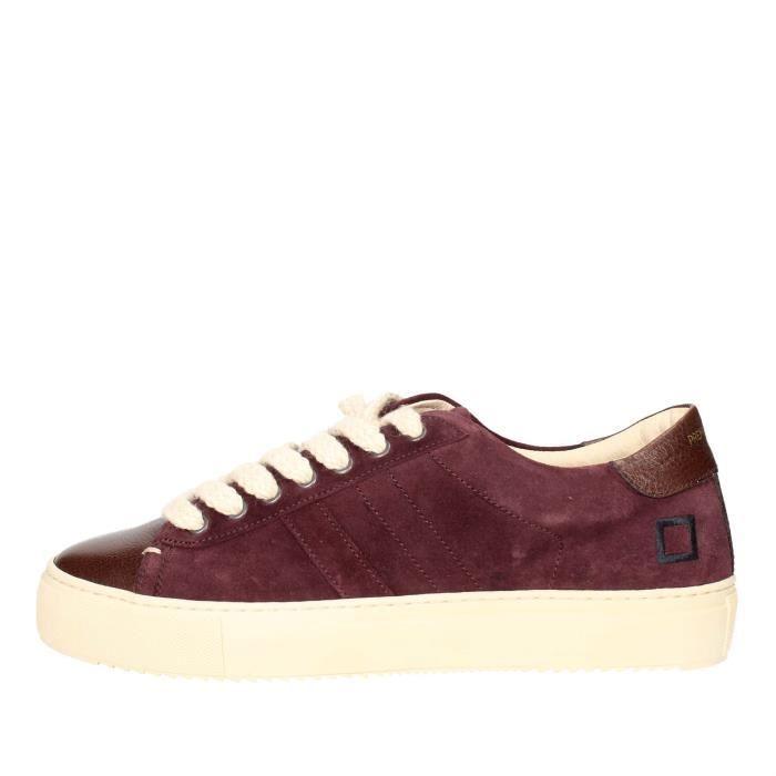 D.a.t.e. Sneakers Homme Bordeaux, 44
