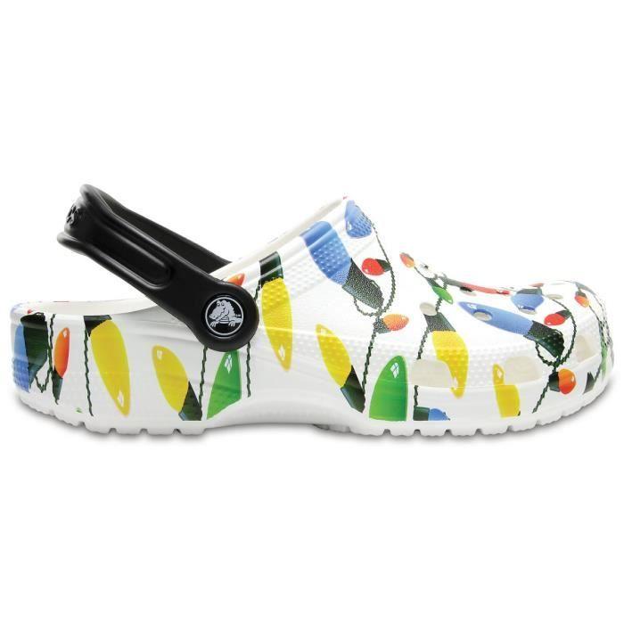 Crocs Classic Holiday Clog - La chaussures unisexe en Croslite avec bride au talon pour un ajustement sûret une semelle