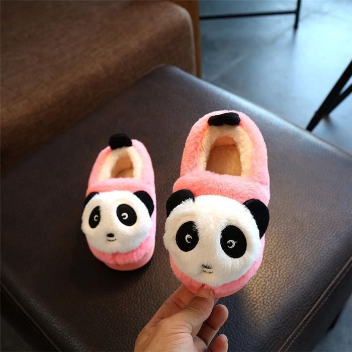 Panda Chaussons Nouvelle Plus De Cachemire Enfant Hiver Chausson Haut qualité Mode Garde Au Chaud Confortable Doux Beau 20-22
