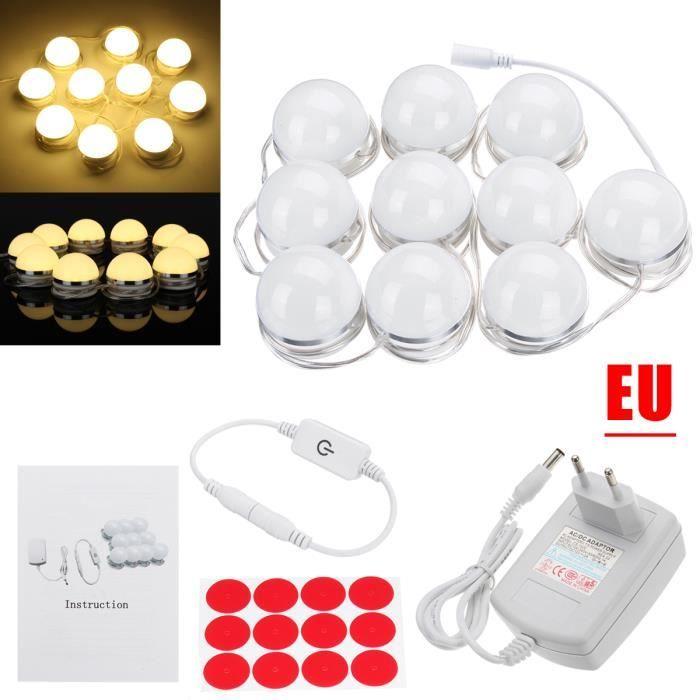Ampoules Jaune Miroir Style 10x Hollywood Pour Cosmétique Neufu Maquillage De Led tZFxq1w7