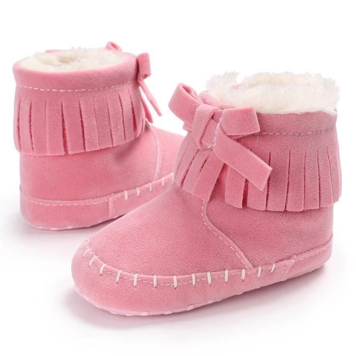 Nouveau Bébé Bottes de neige Hiver Bébé Garde au chaud Fond mou Chaussures de bébé OUaibHab