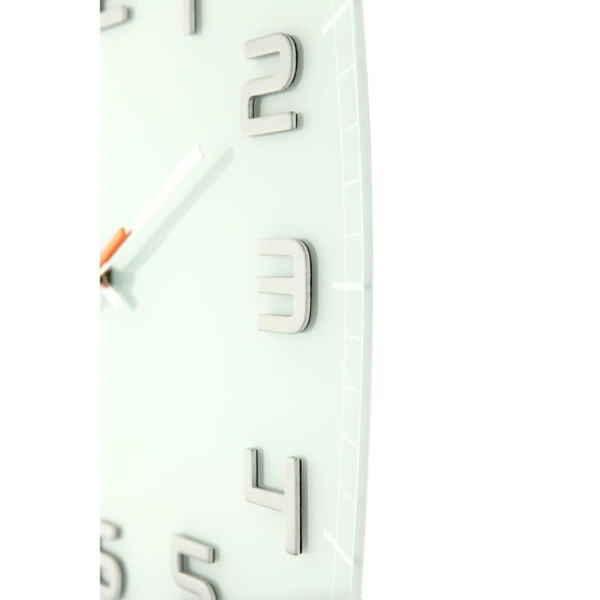NEXTIME Horloge Murale Classy Square Verre