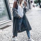 nouveau style de vie style limité réduction jusqu'à 60% Gilet long en laine femme