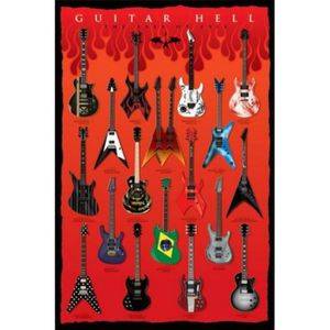 AFFICHE - POSTER Guitares Poster - Guitar Hell, Les Axes Du Mal ...