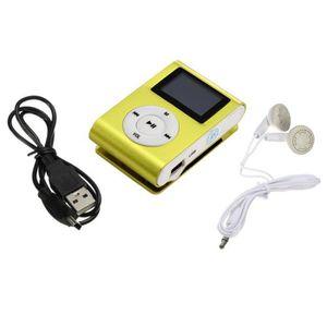 LECTEUR MP3 ouniondo® Clip métal numérique Lecteur MP3 écran L