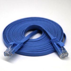 CÂBLE RÉSEAU  5 m RJ45 CAT6 Ethernet réseau LAN câble plat UTP p