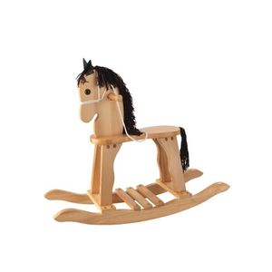 PORTEUR - POUSSEUR Cheval à bascule en bois traditionnel haute qualit