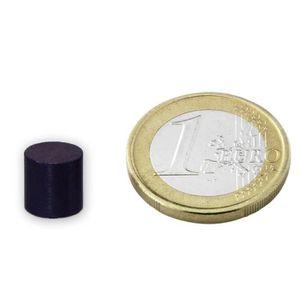 AIMANTS - MAGNETS Disque Ø 10 x 10mm Ferrite Y35 sans placage adhére