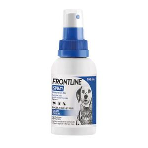 ANTIPARASITAIRE FRONTLINE Spray antiparasitaires - 100 ml - Pour c