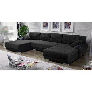 canape panoramique gris achat vente canape panoramique gris pas cher cdiscount. Black Bedroom Furniture Sets. Home Design Ideas