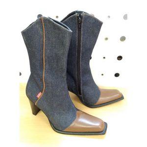 BOTTE Bottes Femme - Marque Levis - T36- Bleu Jeans - Ne