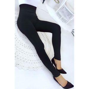 COLLANT SANS PIED Miss Wear Line - Leggings noir amincissant taille 58ddb253cef