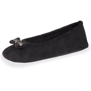 CHAUSSON - PANTOUFLE Chaussons femme Well nud dentelle - Noir - 91016-A