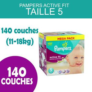 COUCHE PAMPERS ACTIVE FIT TAILLE 5  - 140 COUCHES (11-18K